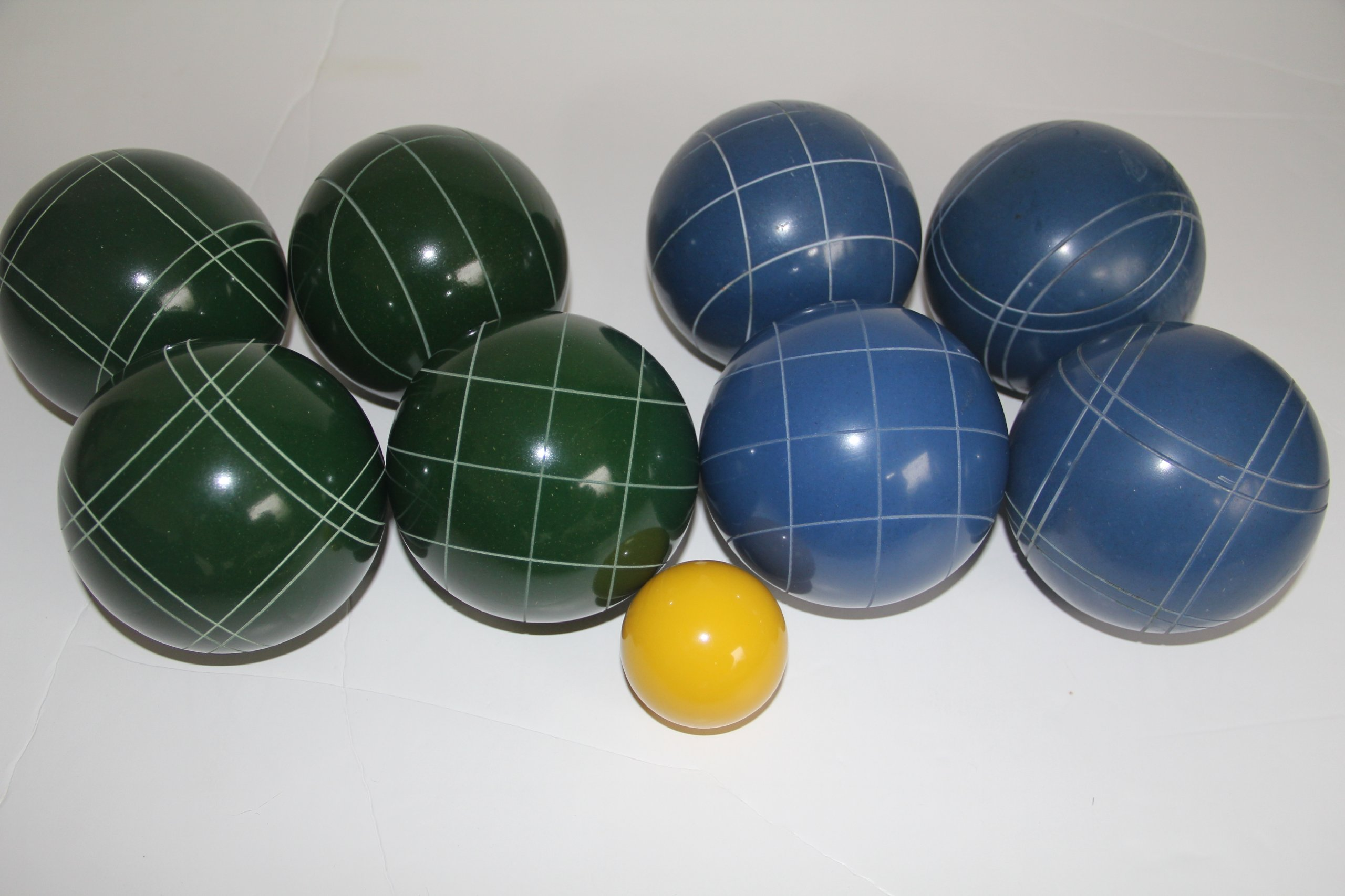 Premium Quality EPCO Tournament Set - 110mm Blue and Green Bocce Balls - NO BAG OPTION [Toy] by Epco