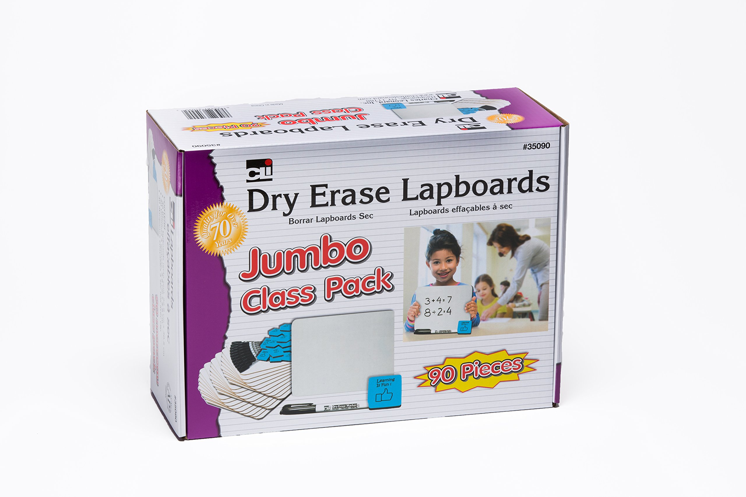 Charles Leonard Dry Erase Board Class Pack - Includes 30 Each 9 x 12 Inch Lapboards, Foam/Felt Erasers and Markers (35090) by Charles Leonard (Image #2)