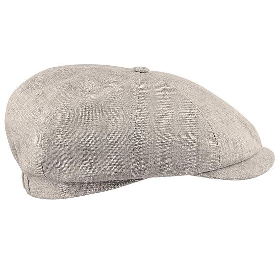 Sterkowski 100% Linen Summer 8 Panel Gatsby Vintage Flat Cap  Amazon ... 5f094d3f5098