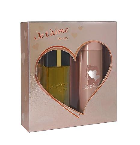 Cadeau • Femme 100 Spray De Coffret T'aime Vaporisateur Elle Eau 150 Pour Je MlDéodorant Parfum 7fybY6g