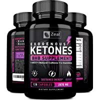 Exogenous Ketones BHB Keto Pills (2700mg | 120 Capsules) Keto Diet Pills w. MCT Oil, BHB Salts Beta Hydroxybutyrate, Natural Caffeine - Keto Supplement for Keto Weight Loss - Keto Diet from Shark Tank