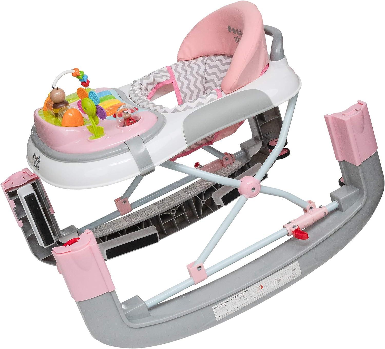 ib style/®3 in 1 Baby Walker |Rocker//Swing Pink Activity Centre |Light /& Sound EN1273:2005