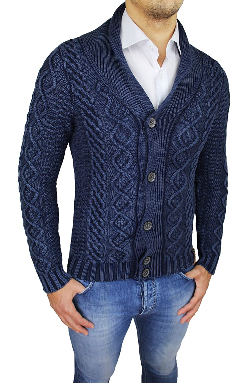 Evoga Men's Cardigan grey grey Large