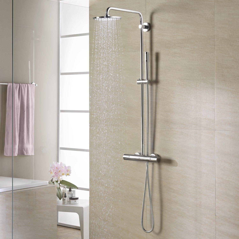 GROHE 27032001 Rain Shower 210 Shower System Thermostat - - Amazon.com