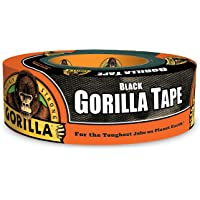 Gorilla Tape Cinta adhesiva negra, 4.78 cm x 91.44 m, color negro, Paquete-de-1, 1 paquete, Negro