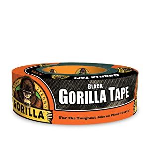 "Gorilla Tape, Black Duct Tape, 1.88"" x 35 yd, Black, (Pack of 1)"