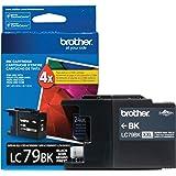 Brother Printer LC-79BK Super High Yield (XXL) Cartridge Ink - Retail Packaging-Black