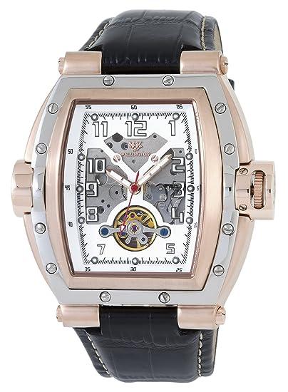 Wellington WN109-382 - Reloj de caballero automático, correa de piel color negro: Amazon.es: Relojes