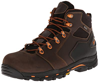 Danner Men's Vicious 4.5-Inch Work Boot,Brown/Orange,8 EE US