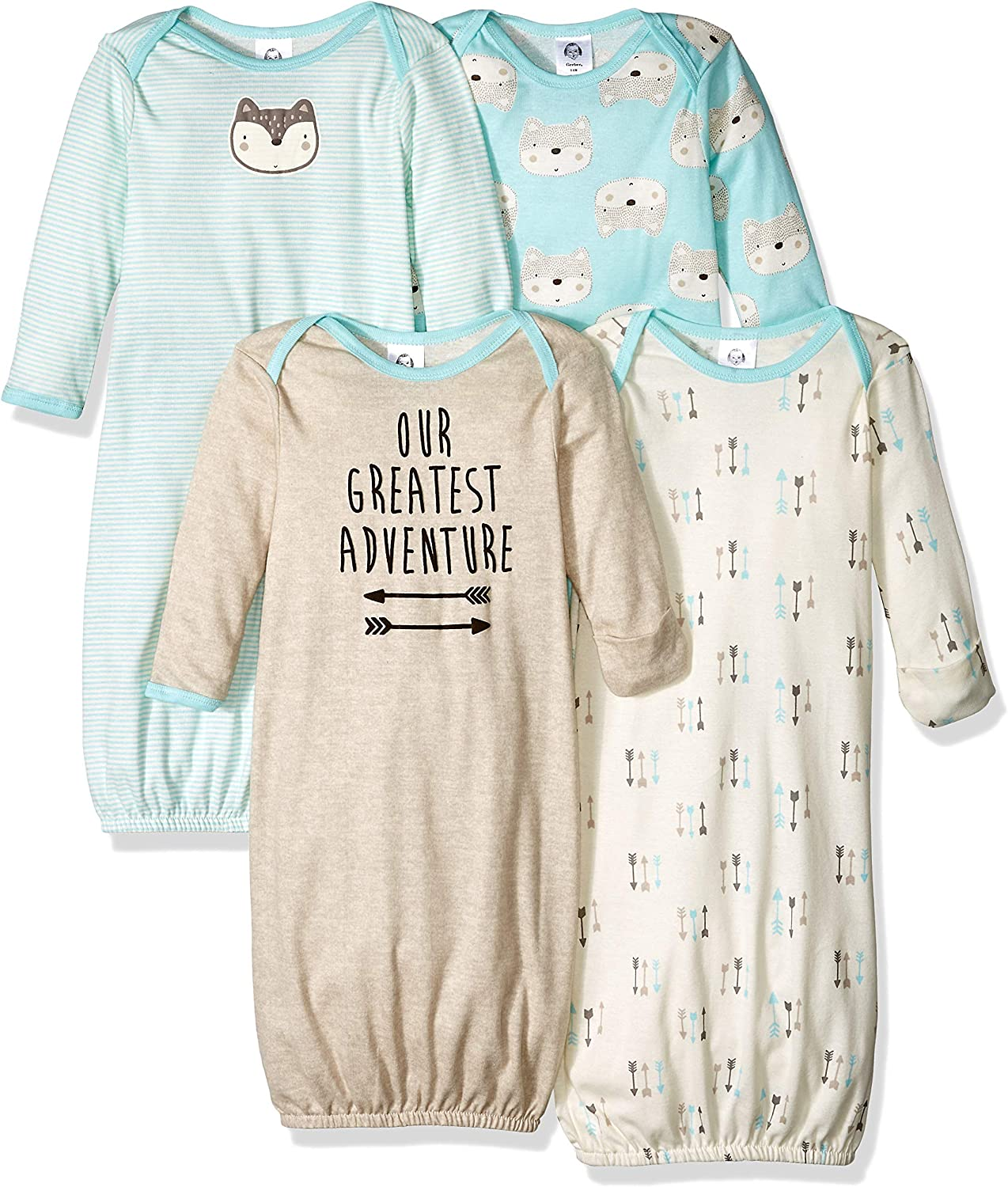 Gerber Baby Boys' 4 Pack Gowns