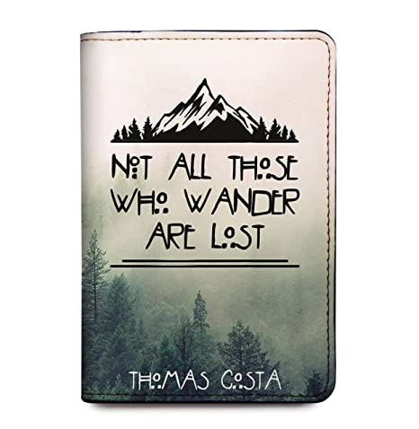 4e9be41149e7 Personalized Leather RFID Passport Holder Cover - Customized Travel Gift  With Quotes