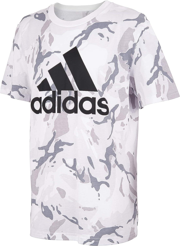adidas Boys Short Sleeve Cotton Jersey Logo T-Shirt Tee
