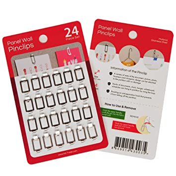 Amazon com : Fabric Panel Wall Clips and Hooks, Pin Clips