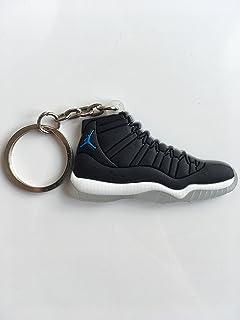 6afc768f59c6fc Amazon.com   Jordan Retro 14 Sneaker Keychain Pack Ferrari Black Toe ...