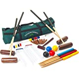 Townsend Croquet Set - 4 Player Full Sized Croquet Set in a Canvas Carry Bag from Garden Games