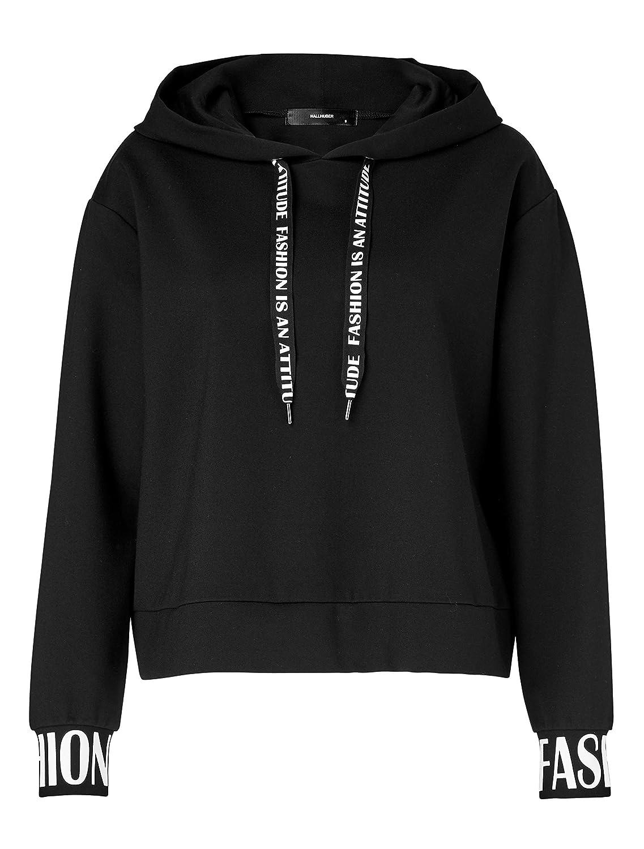 HALLHUBER Two-in-One Hoodie gerade geschnitten schwarz, XS: Amazon.de:  Bekleidung