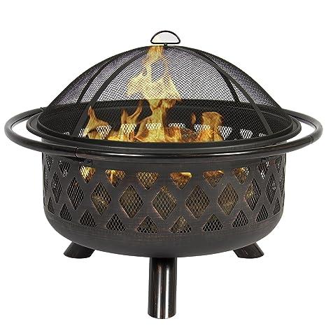belleze fuego cuenco Fire Pit Patio Patio jardín al aire libre estufa de leña estufa W