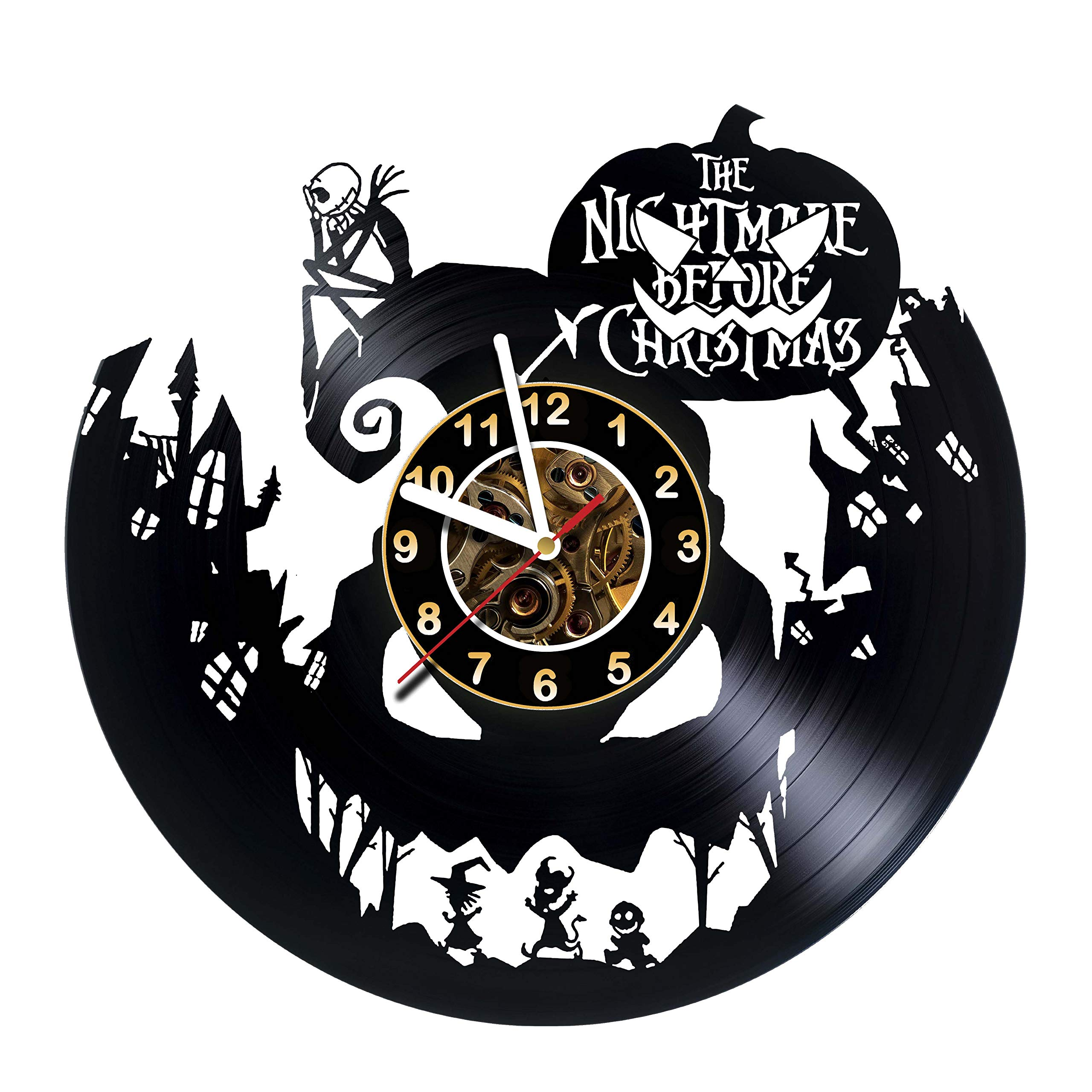 Nightmare before Christmas Vinyl Record Wall Clock - Poster ...