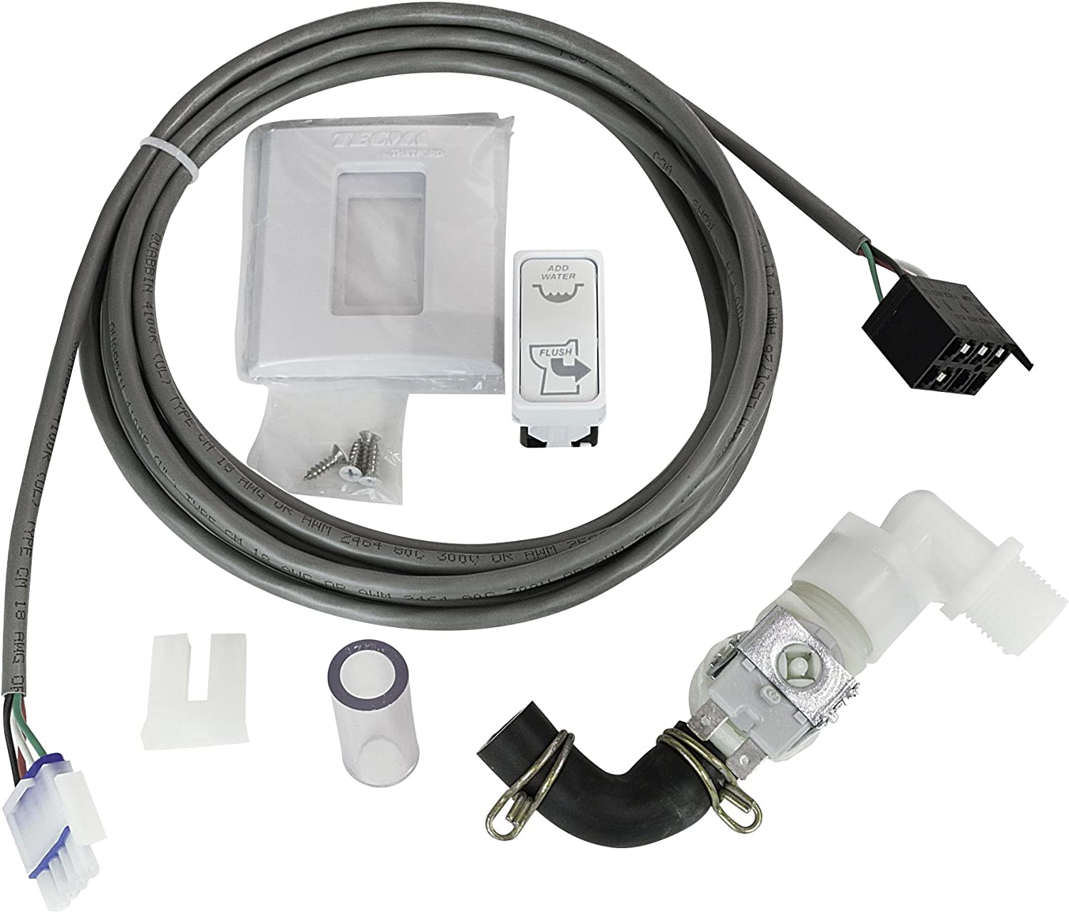 Wire Harness and ECO Switch 38670 Thetford Marine EASYFIT//NANO//COMPASS 12V HEADS INSTALL KIT With FRESH WATER SOLENOID