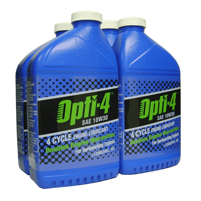 Opti-4 43121 4PK SAE 10W30 34Oz 4-Cycle Engine Lubricant by Opti