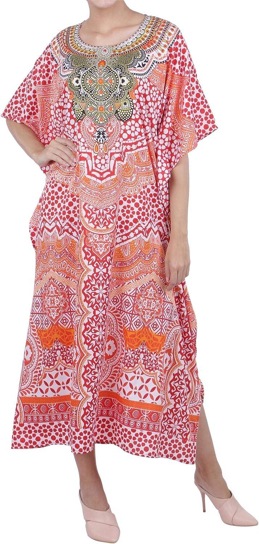 K131//K134 Miss Lavish London Kaftan Tunic Plus Size Maxi Dress Embellished Kimonos