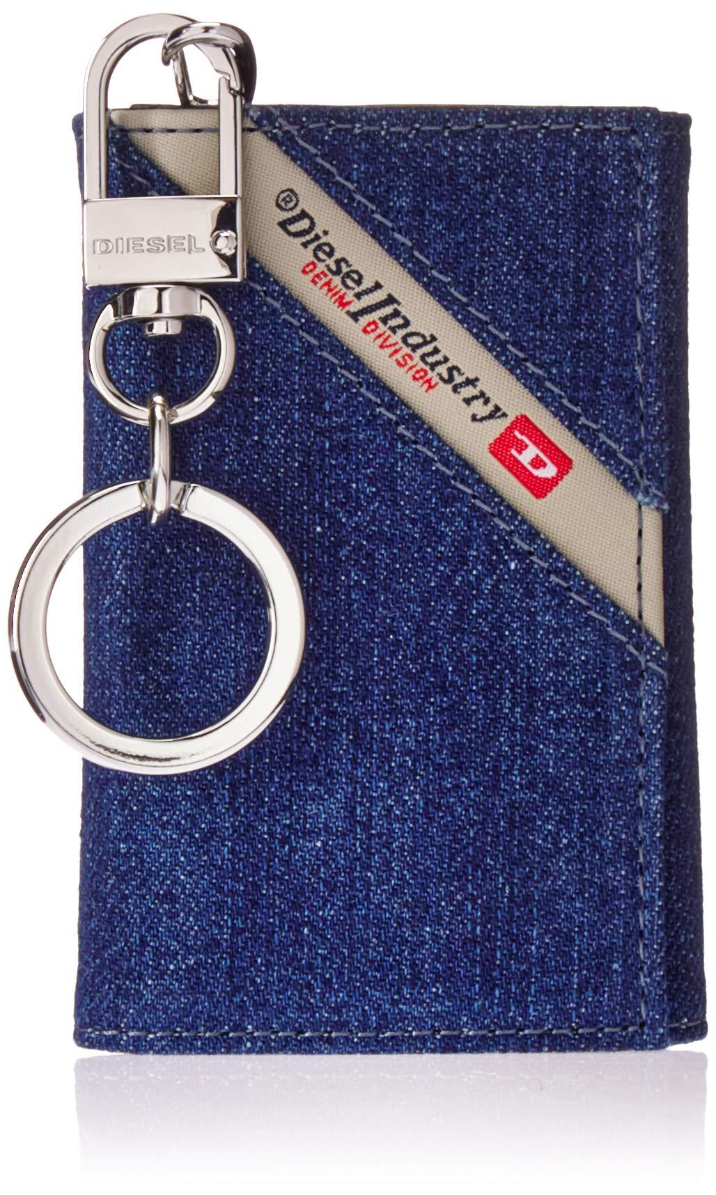 Diesel Men's DENIMLINE KEYCASE O-Key Holder, dark blue denim/black One Size