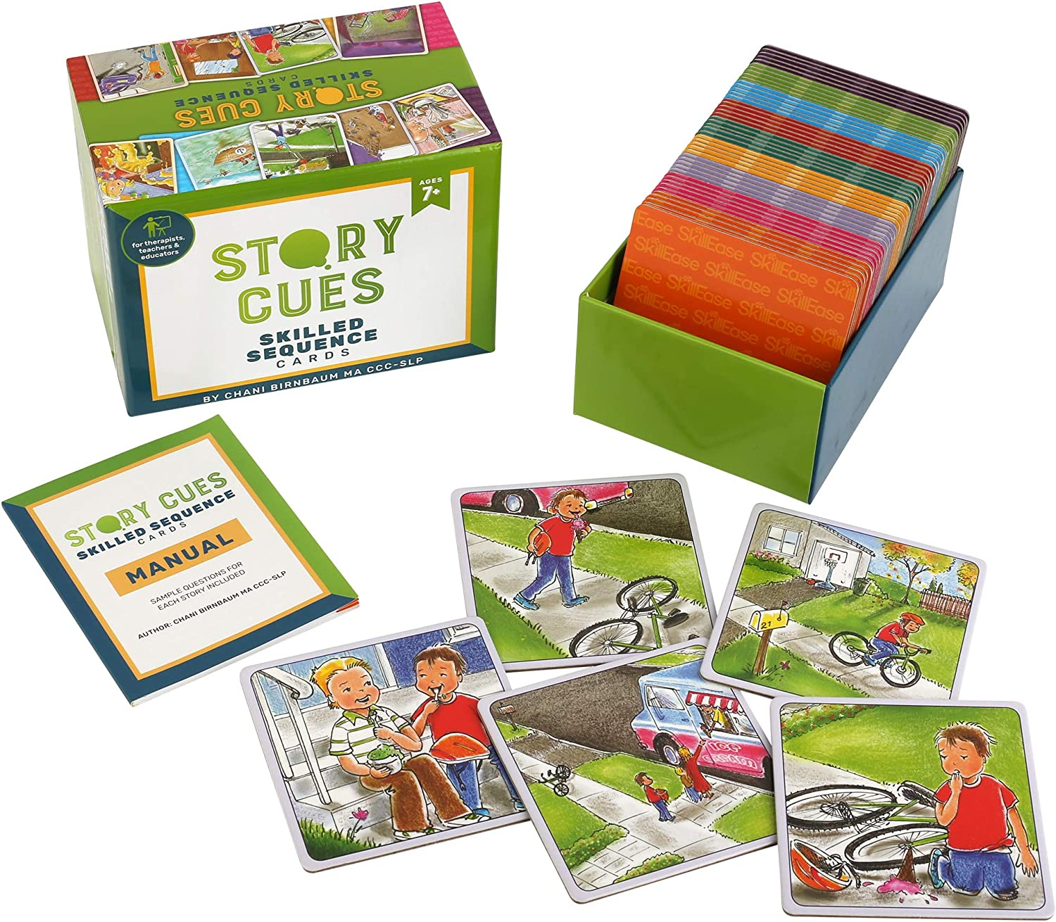 SkillEase Story Cues Skilled Sequence Cards a Therapy Game for Storytelling, Social Skills and Critical Thinking Skills