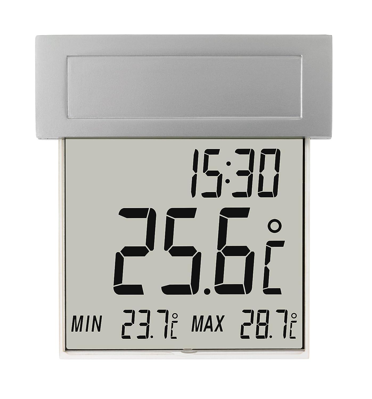 TFA Dostmann Vision digitales Fensterthermometer, 30.1025, großes Display mit Außentemperatur 30-1025