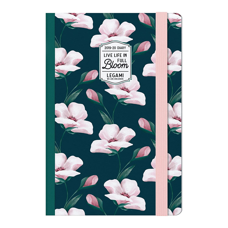 Medium  photo weekly diary with notebook 18 mesi 2019/2020 - flowers bloom