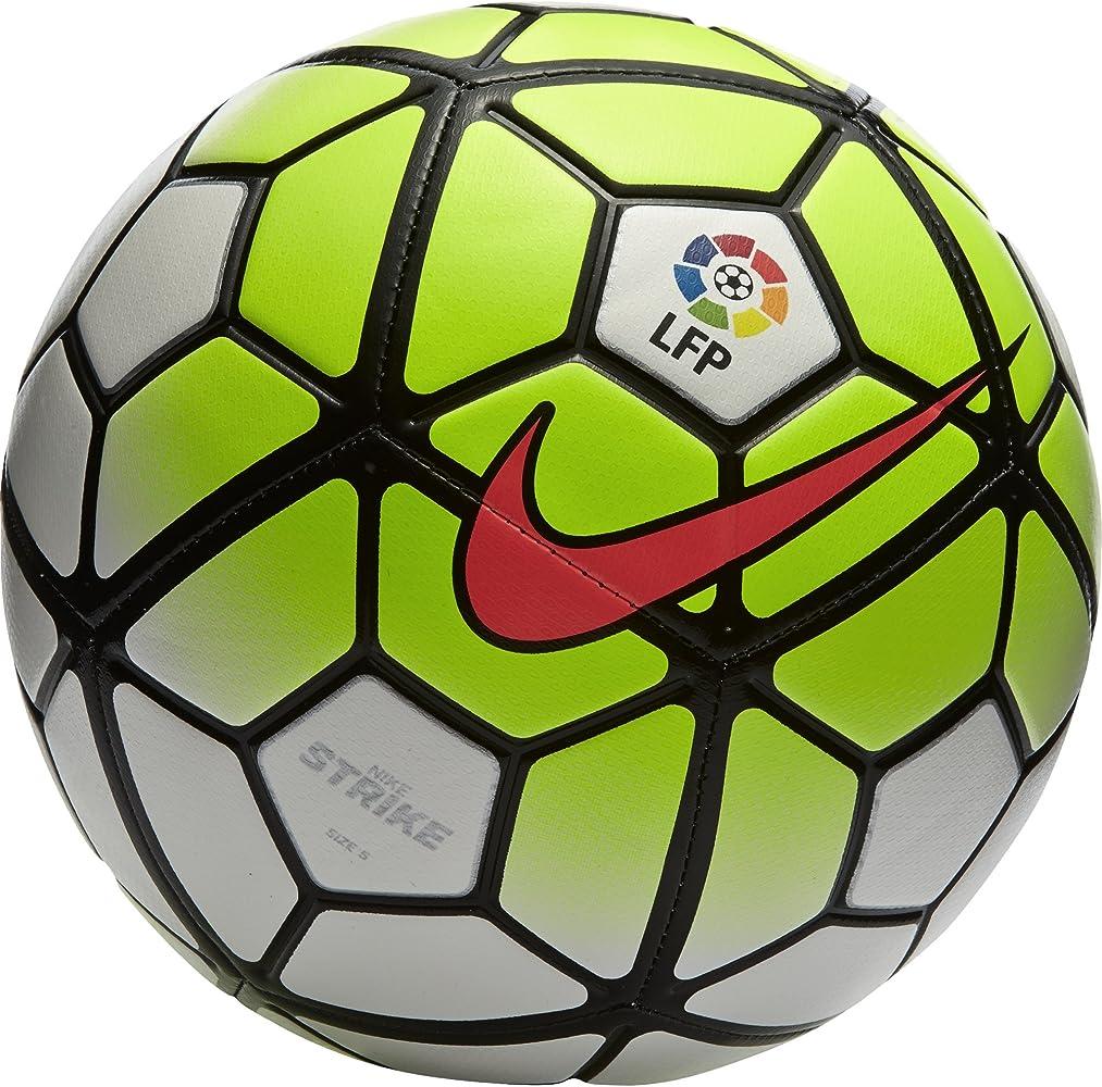 Nike Strike LFP Balón de fútbol, Unisex, Blanco/Lima/Negro, 5 ...