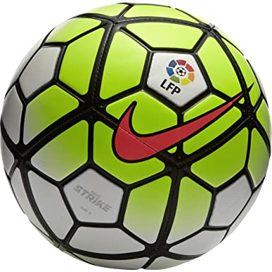 Nike Ball Strike Balón, Unisex, White/Volt/Black/Hyper Punch, 4 ...