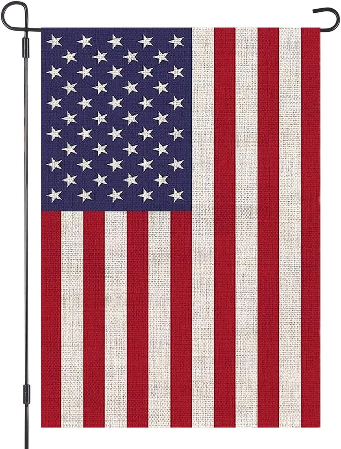 American Garden Flag USA Independent Day 4th of July Celebrate Burlap Double Sided Outdoor Yard Decorations 12.5 x 18 Inch