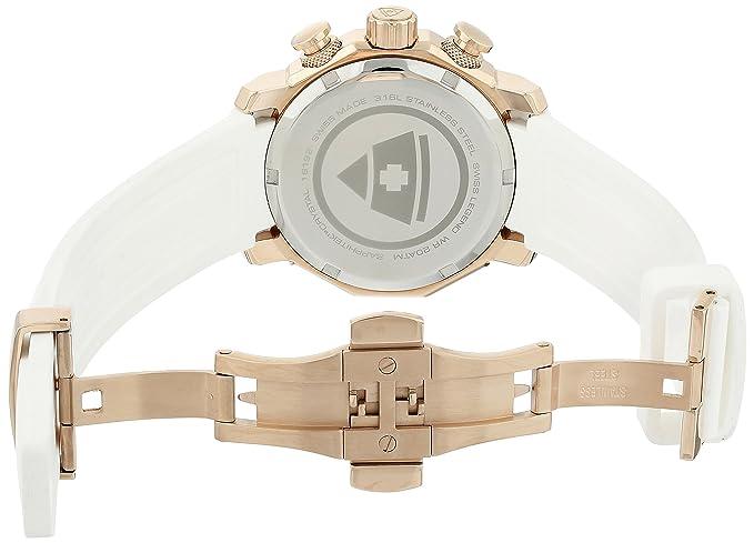 Amazon.com: Swiss Legend Womens 16192SM-RG-02-WHT Blue Geneve Analog Display Swiss Quartz White Watch: Watches