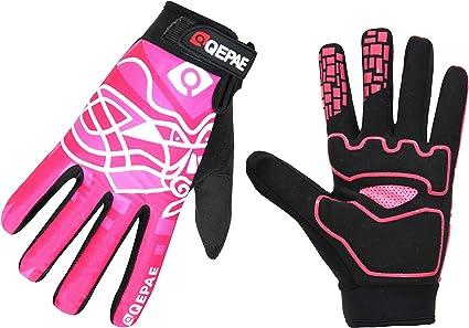 Lerway Guantes Gimnasio Deportivos Ciclismo Gloves Completo Dedos para Bicicleta Bici Moto Unisex Protección las Palmas (Rosa, M): Amazon.es: Coche y moto