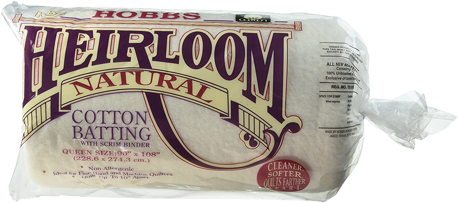 Hobbs 229  x 274  x 1  cm Queen Heirloom cotone Scrim, bianco HNS90
