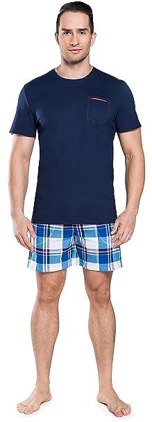Italian Fashion IF Pijama para Hombre IFS180013 (Azul Oscuro-2, M)