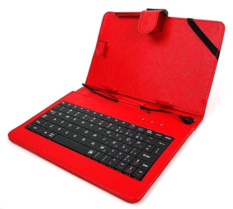 duragadget custodia ttastiera  DURAGADGET Custodia/Tastiera Rossa per Tablet di 7