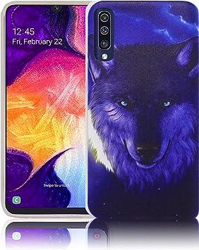 thematys® Adecuado para Samsung Galaxy A70 Lobo de la Noche Funda ...