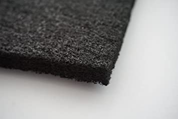 1 stück aktivkohle filtervlies ca. 1 x 1 m dicke ca. 10 12 mm
