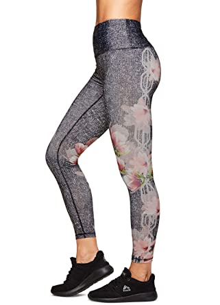 e35d4a964aa Amazon.com  RBX Active Women s Printed Running Workout Yoga Leggings ...