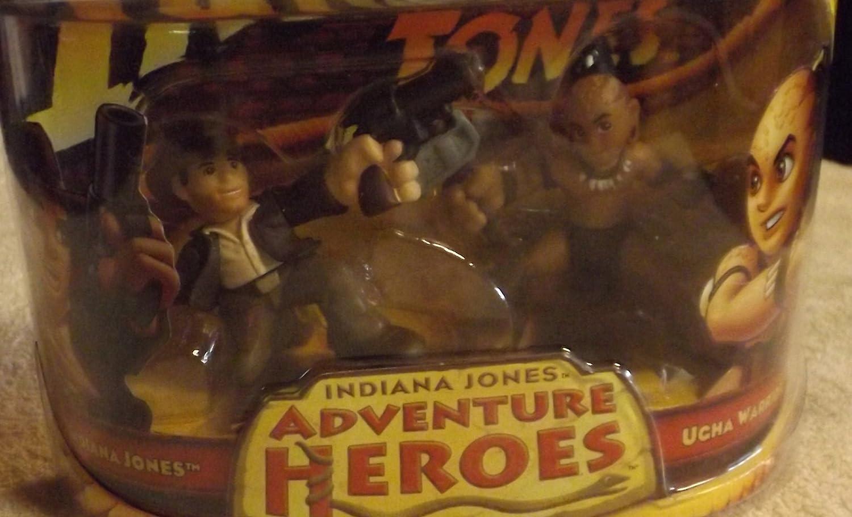 Indiana Jones y Ugha Warrior Adventure Heroes Reino de la Calavera de Cristal 2 Unidades: Amazon.es: Juguetes y juegos