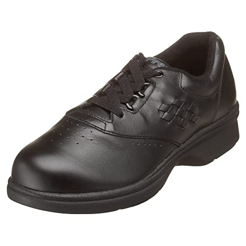 Propet Women's W3910 Vista Walker Comfort Shoe,Black Smooth,6 M (US Women's