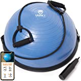 URBNFit Balance Trainer Stability Half Ball with Resistance Bands, Pump and Workout Guide - Improve Core and Ab Strength…