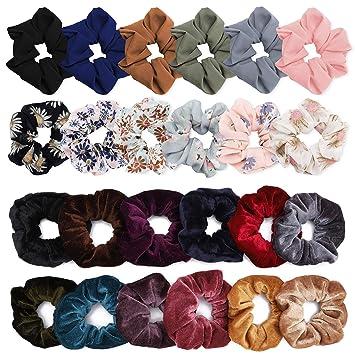 Chiffon Hair Scrunchie Women Elastic Ponytail Hair Ties Rope Hair Ring Rope Lot