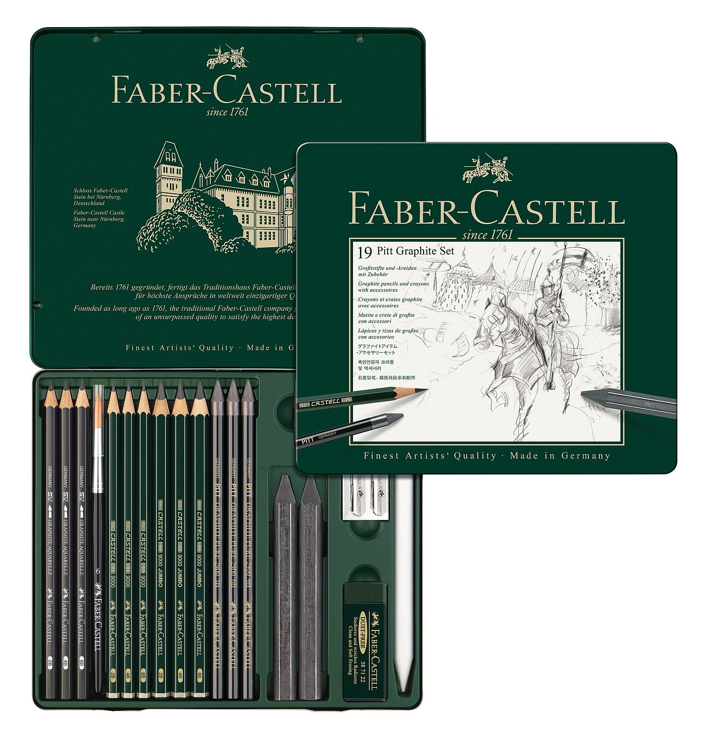 Uncategorized Faber Kitchen Appliances amazon com faber castel 19 piece pitt graphite tin set