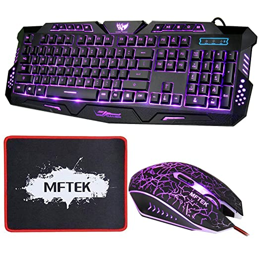 35 opinioni per Set tastiera e Mouse, MFTEK USB LED 3
