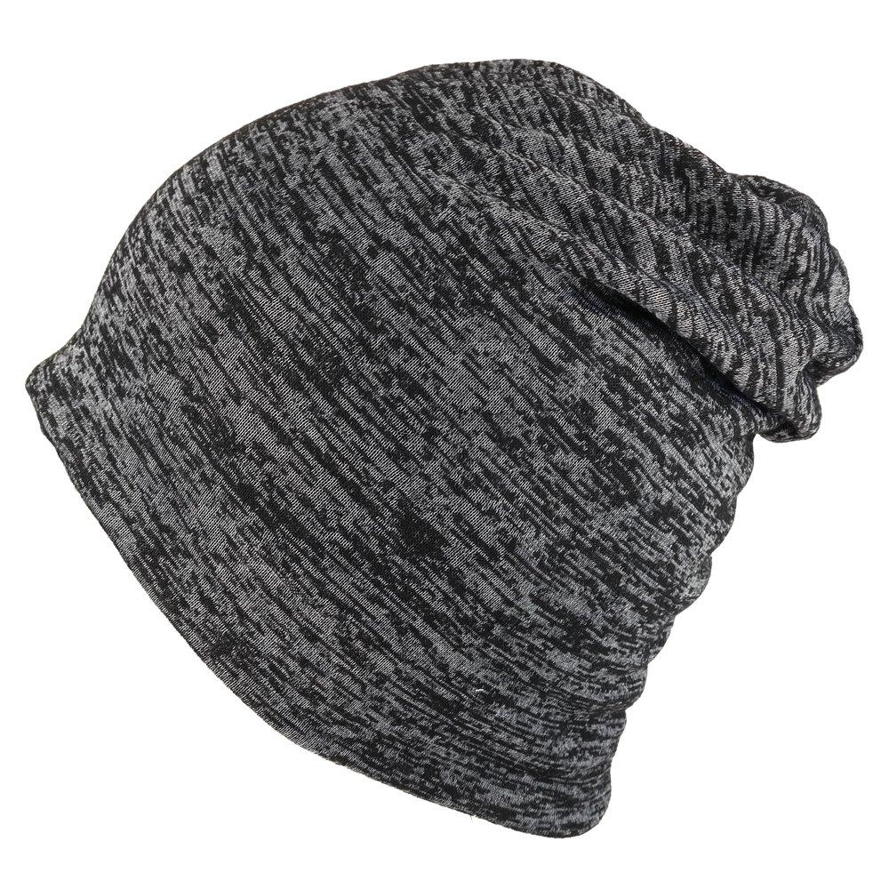 Amazon.com  Soft Rayon Blend Jersey Knit Lightweight Winter Beanie Cap -  Heather Black  Clothing 88beb53d7bd
