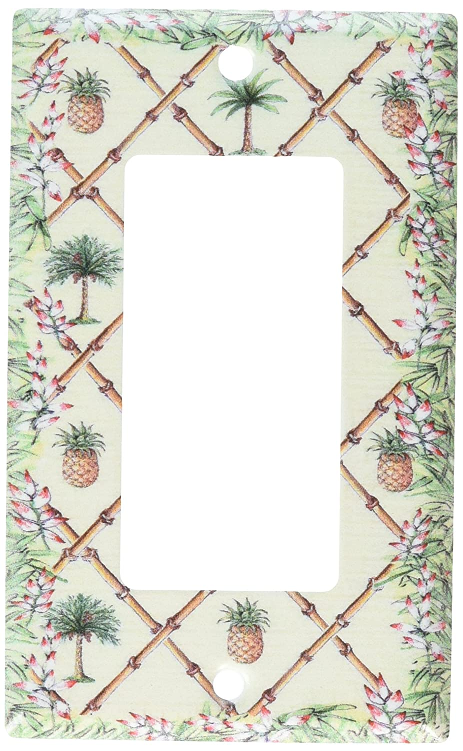 Art Plates Double Toggle D367-plate Bahama Pineapple Switch Plate