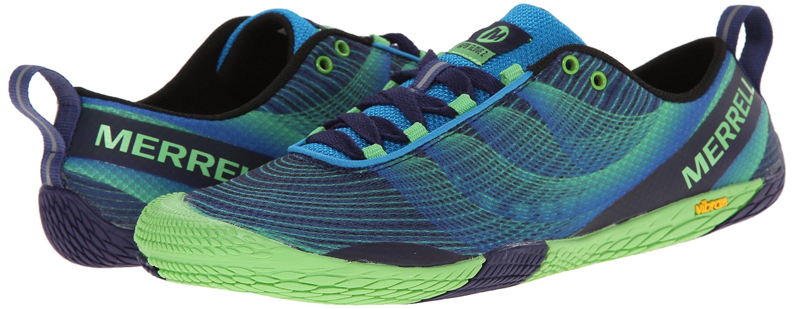 Merrell Men's Vapor Glove 2 Trail Running Shoe, Racer Blue/Bright Green, 9.5 M US by Merrell (Image #6)