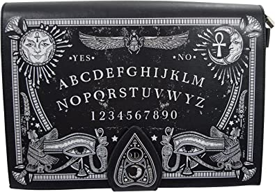 OUIJA BOARD Mens Wallet Black Faux Leather Gifts for men Magic Occult